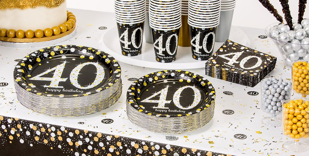 Sparkling celebration 40th birthday party supplies party for 40th birthday decoration