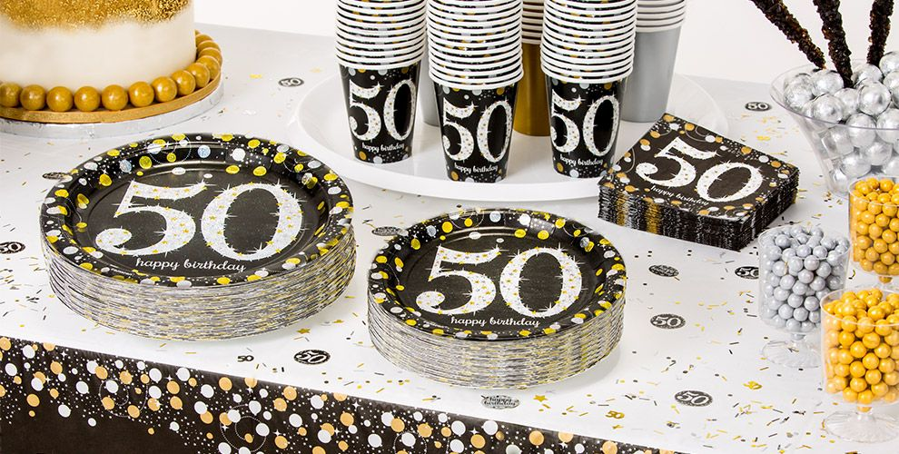 Sparkling celebration 50th birthday party supplies party for 50 birthday party decoration
