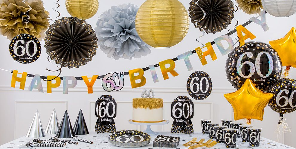 Sparkling celebration 60th birthday party supplies party for 60th party decoration ideas