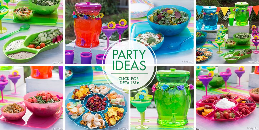 Bright Flip Flop Party Ideas, Click For Details!