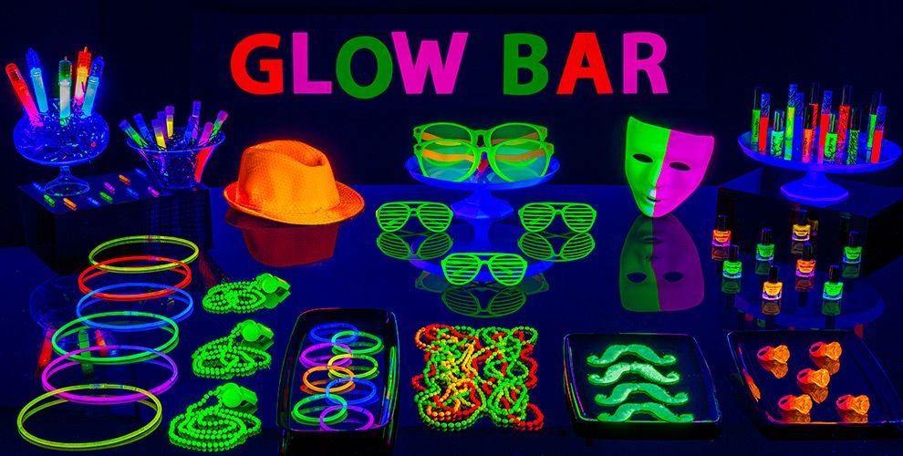 Black Light Party Supplies Glow Bar
