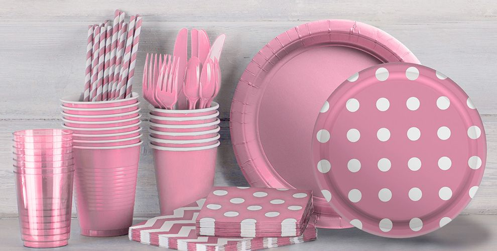 Patterned Tableware 50% Off MSR — Pink Polka Dot Party Supplies