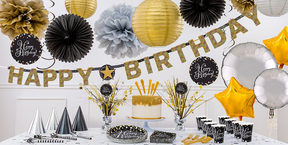 Sparkling Celebration Happy Birthday Party Supplies