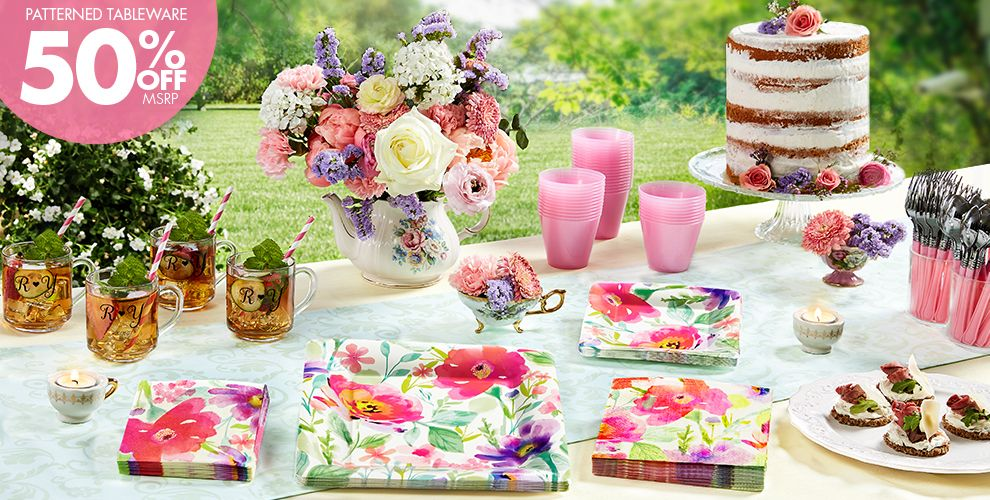 Water Floral – 50% off Patterned Tableware MSRP