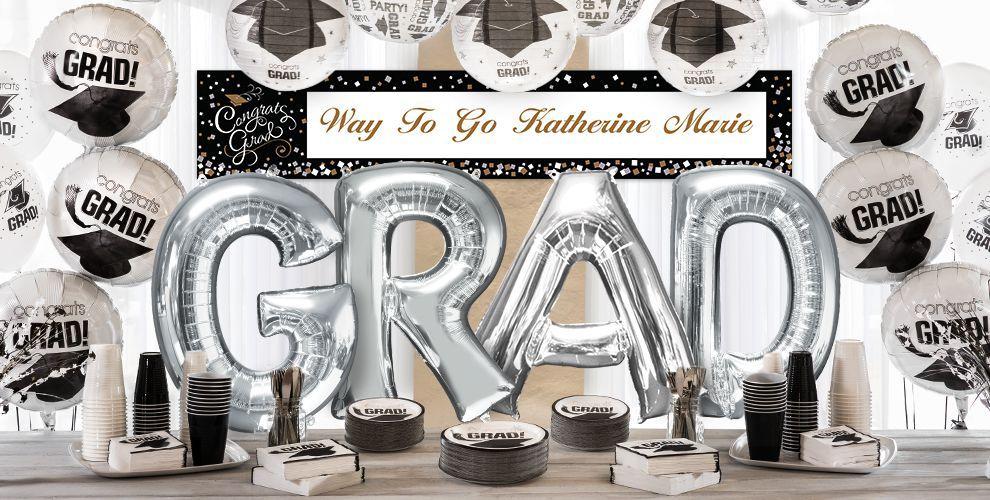 Giant Silver Letter Balloons