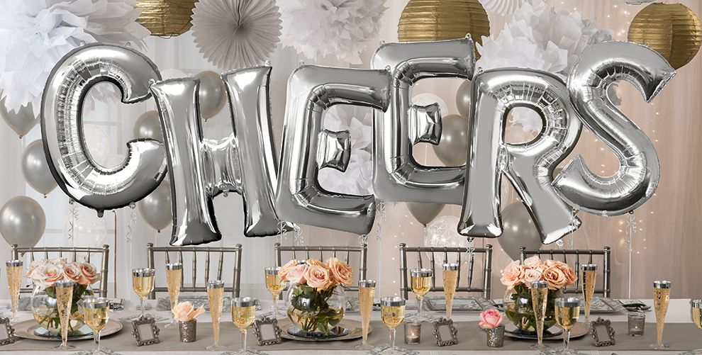 Giant Silver Letter Balloons
