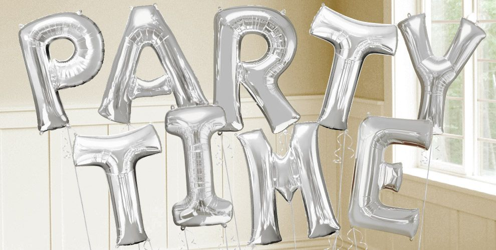 silver letter balloons party city With silver letter balloons party city