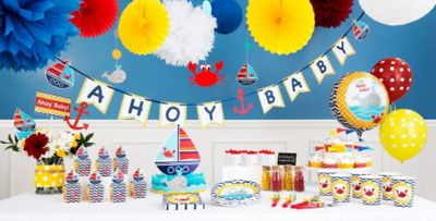 Nautical Themed Birthday Party Supplies Part - 50: ... Ahoy Nautical Baby Shower Party Supplies ...