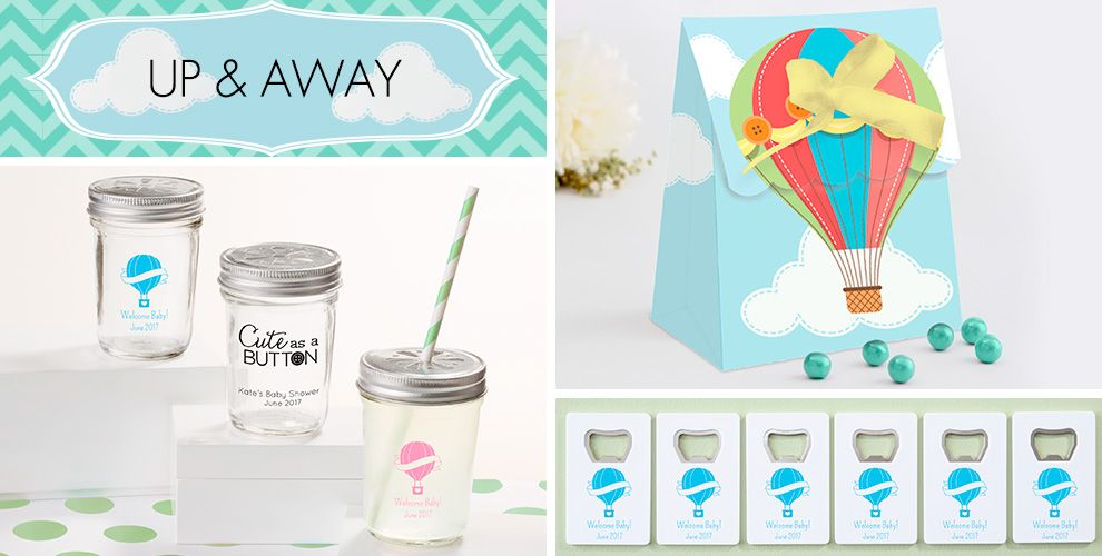 Up & Away Baby Shower Party Supplies