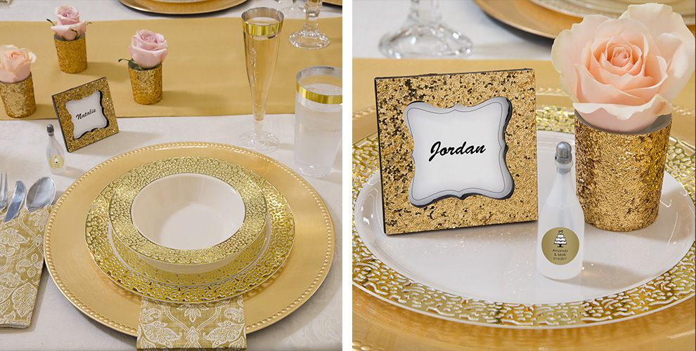 Gold Glam Wedding Party Supplies