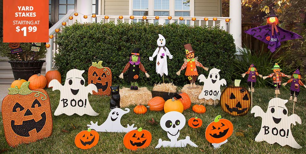 Kid-Friendly Halloween Decorations – Yard Stakes Starting at $1.99