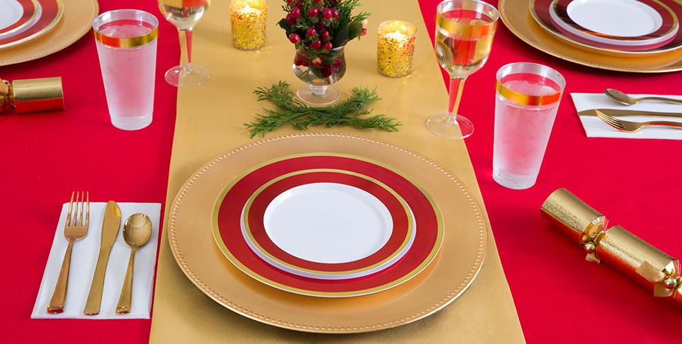 Red Patterned Tableware 50% Off MSRP