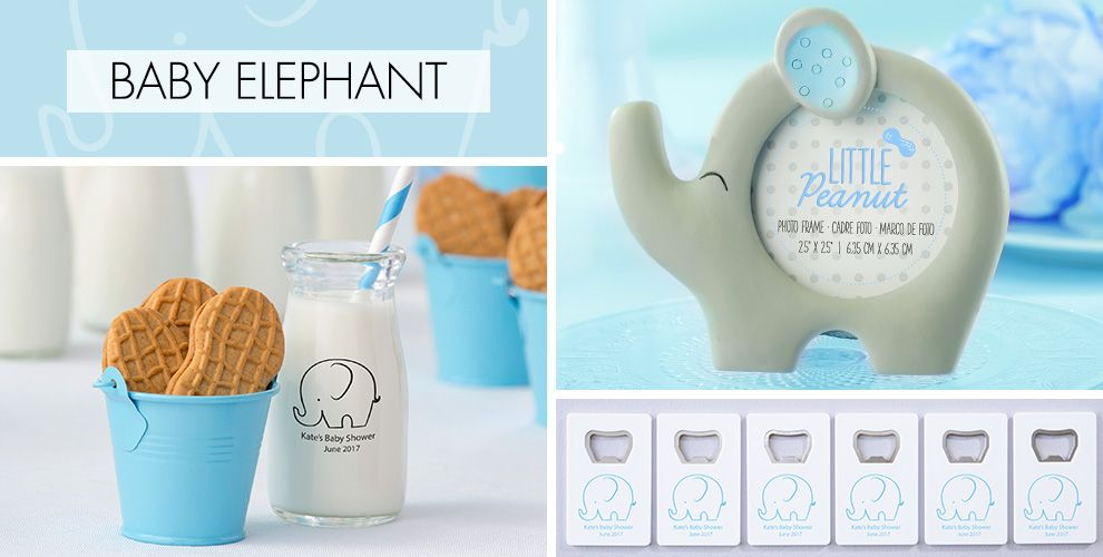 Blue Baby Elephant Baby Shower Party Supplies - Party City