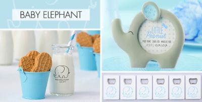 Awesome ... Blue Baby Elephant Baby Shower Party Supplies. «»