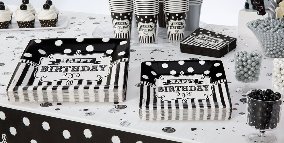 Chalkboard Birthday Party Supplies