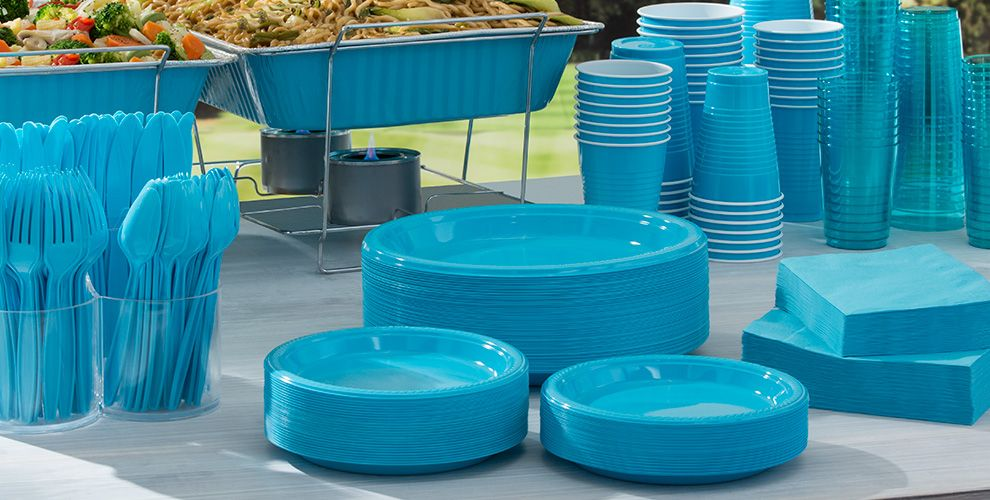 Caribbean Blue Tableware