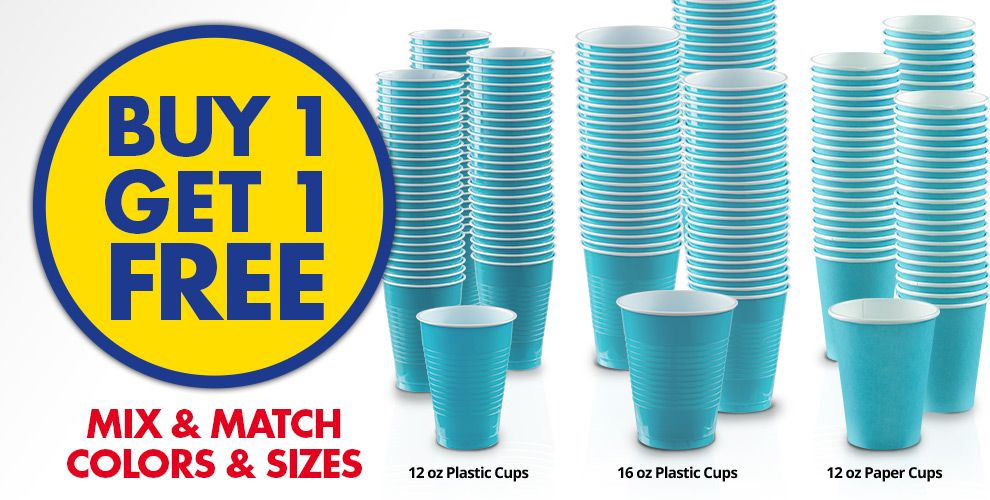 Buy 1 Get 1 Free – Mix & Match Colors &amp Sizes — Caribbean Blue Tableware