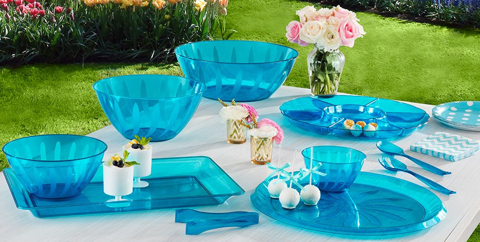Caribbean Blue Solid Color Tableware