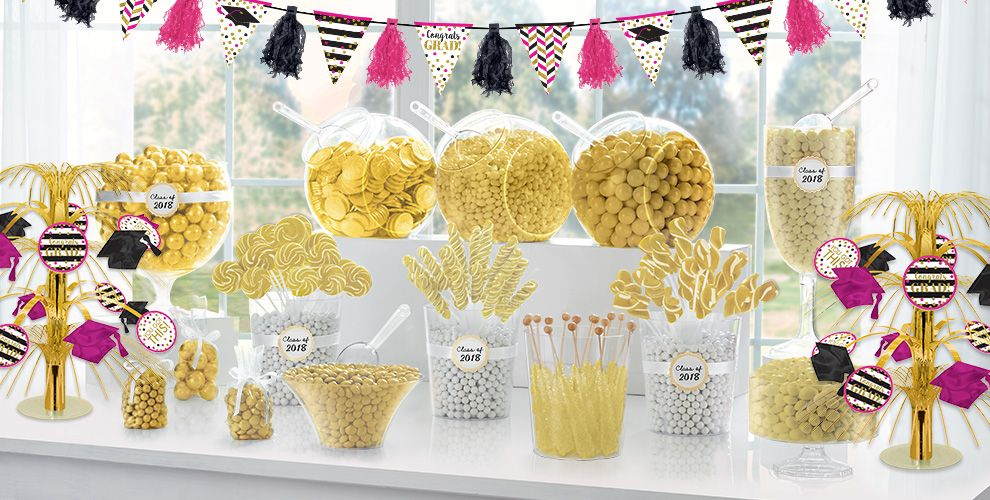 Gold Confetti Grad Party Supplies