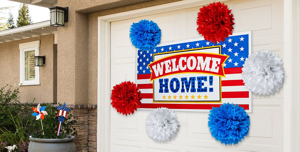 Welcome home party supplies patriotic military party for Welcome home decorations