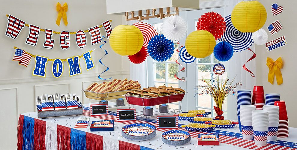 Welcome home party supplies theme parties party city for Home party decorations ideas