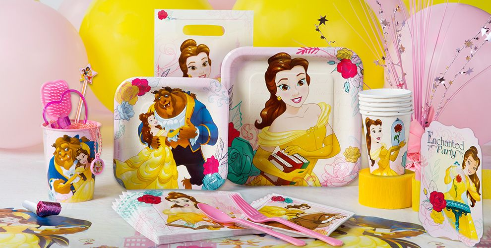 Beauty & the Beast Party Supplies 50% off Patterned Tableware MSRP