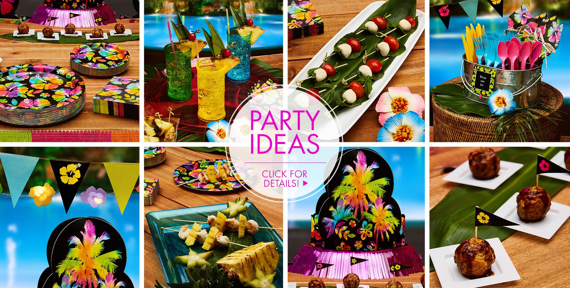 Neon Hibiscus Party Supplies – Sweets & Treats