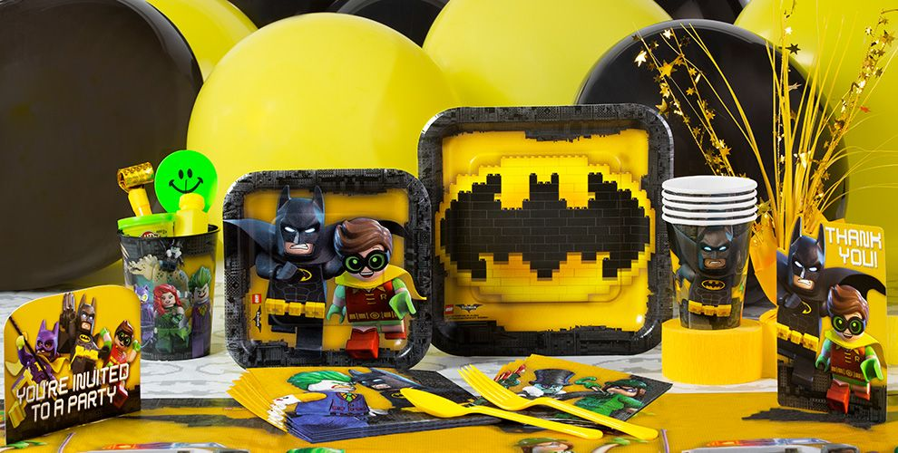 Lego Batman Party Supplies - Lego Batman Birthday - Party City