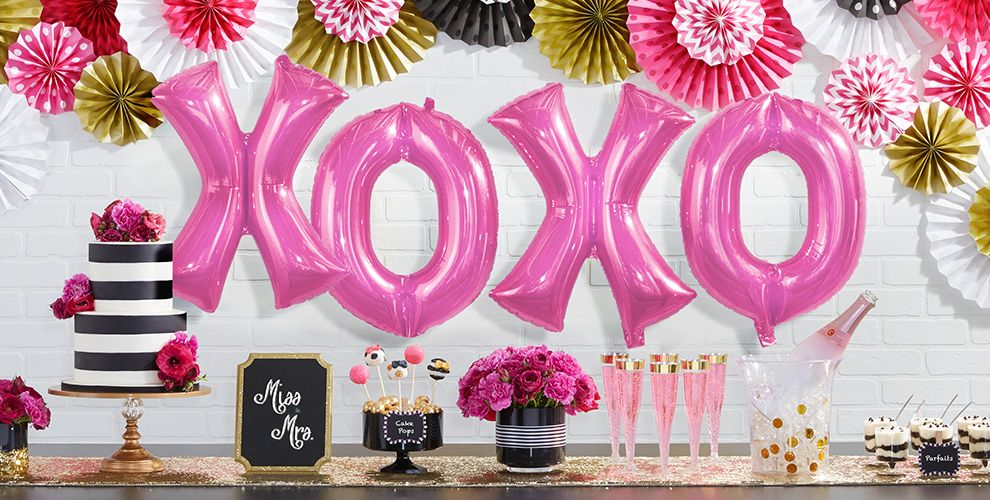 Giant Bright Pink Letter Balloons