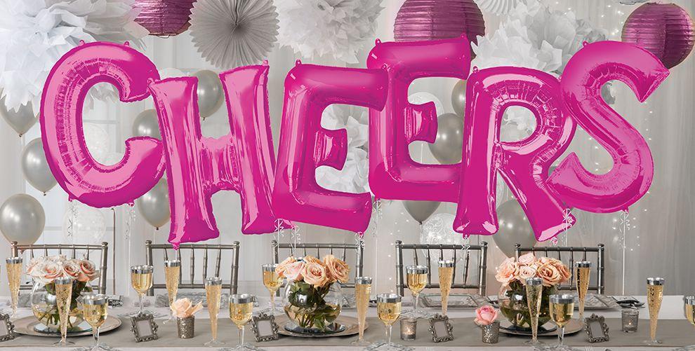 Giant pink letter balloons foil alphabet balloons for Giant letter balloons
