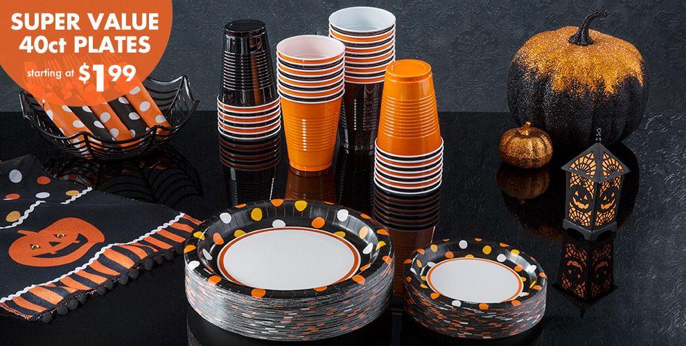 Polka Dot Halloween Party Supplies