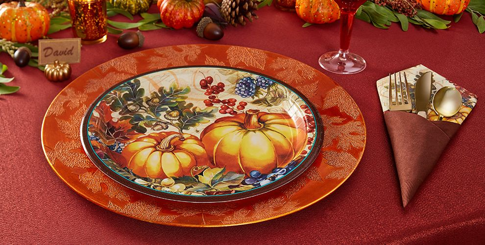 Warm Harvest Party Supplies – 50% off MSRP