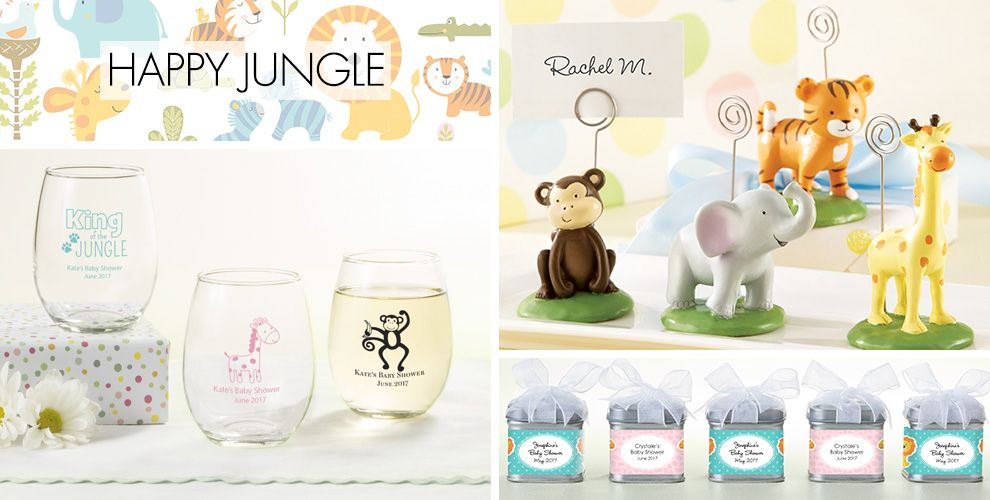 Happy Jungle Baby Shower Party Supplies