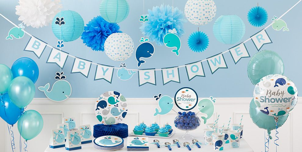 Blue Baby Whale Party Supplies