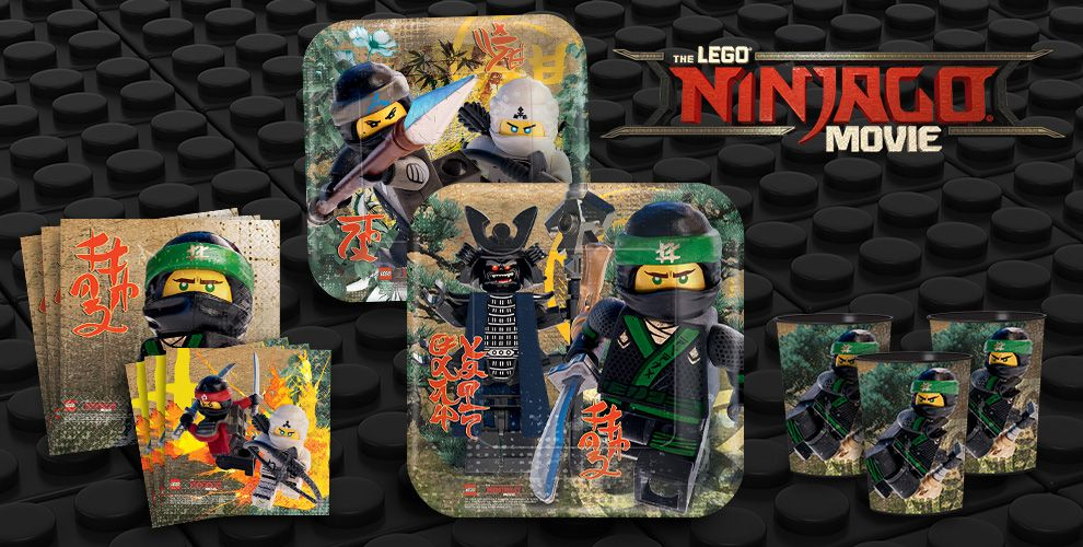 The Lego Ninjago Movie Party Supplies - New Themes - Boys Birthday ...