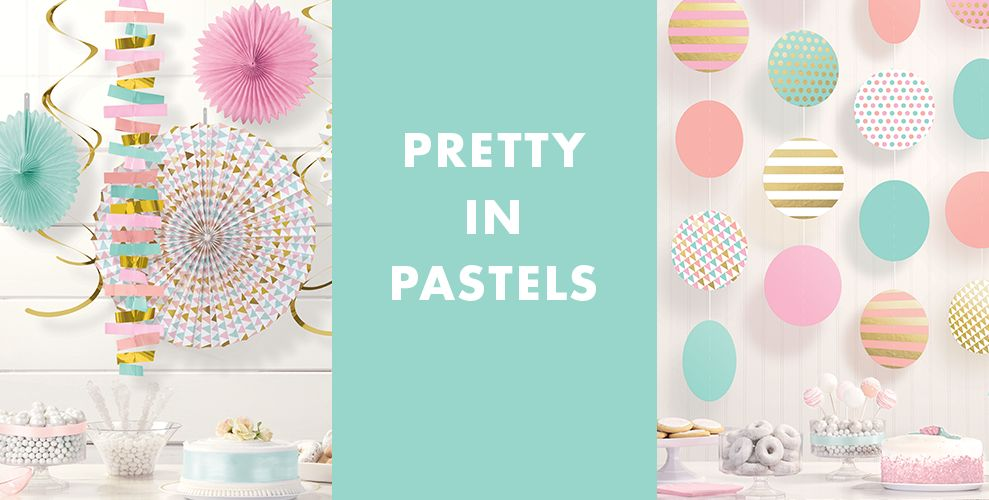 Pretty in Pastels Solid Color Decorations