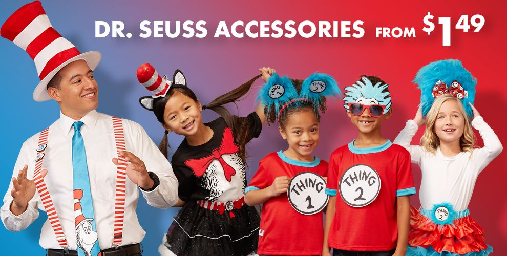 Dr Seuss Accessories - starting at $1.49