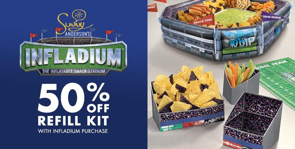 Infladium Football Snack Stadium the New Way to Buffet