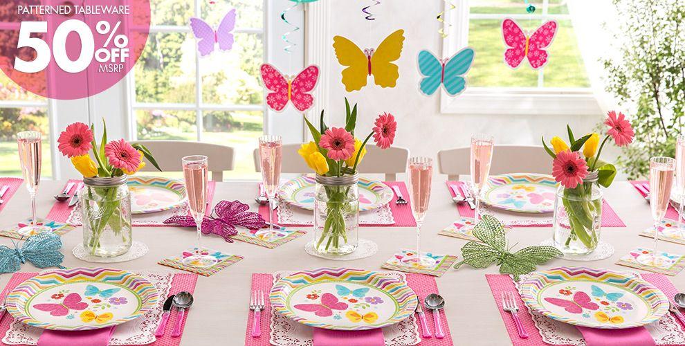 Celebrate Spring 50% off Patterned Tableware MSRP