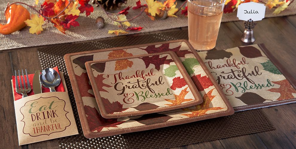 Thanksgiving Autumn Traditions Party Supplies