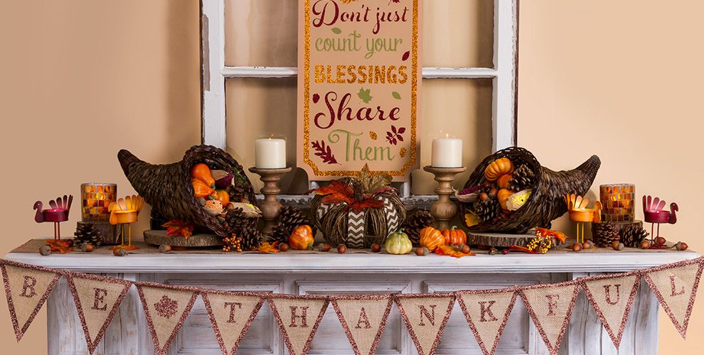 Thanksgiving home decor party city for Thanksgiving home decorations