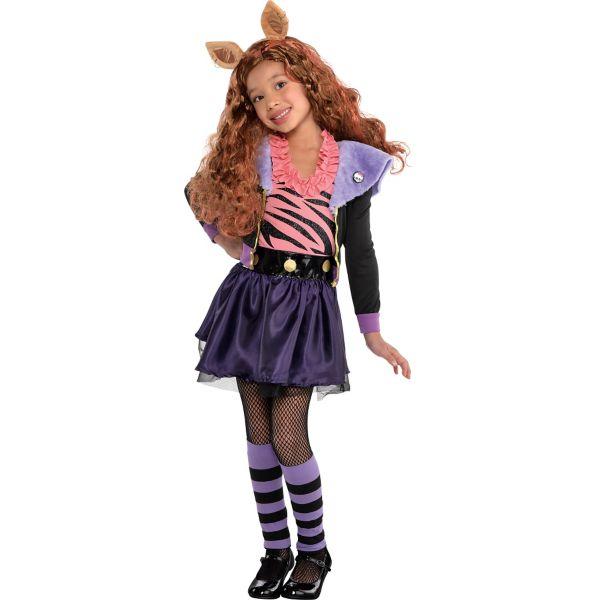 Girls Clawdeen Wolf Costume Deluxe - Monster High