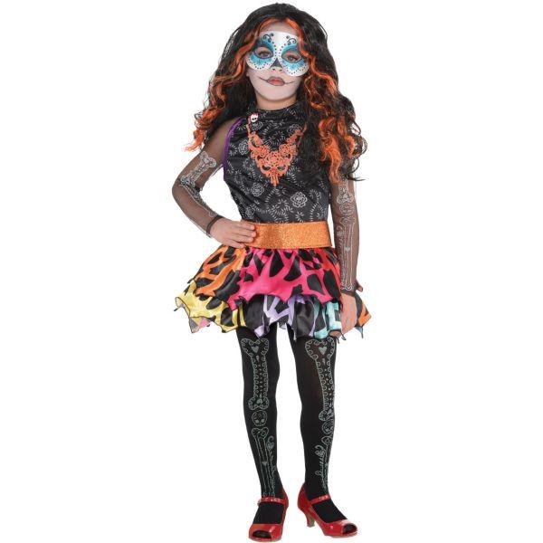 little girls skelita calaveras costume deluxe monster high - Skelita Calaveras Halloween Costume