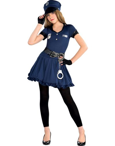 girls cop costume party city - Girls Cop Halloween Costume