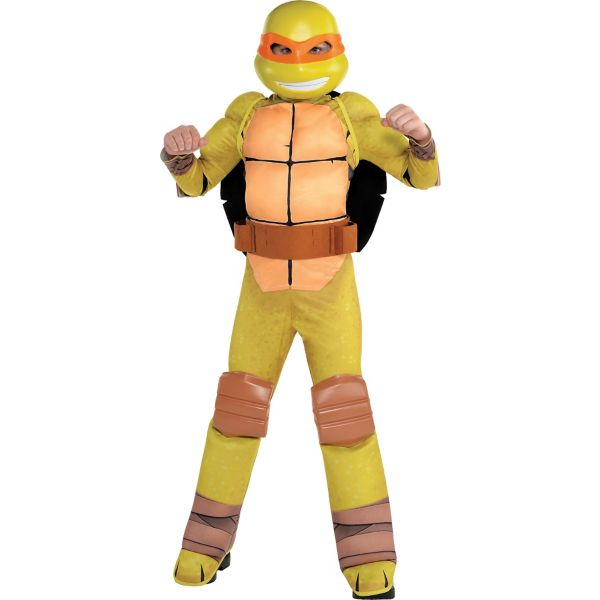 Boys Michelangelo Muscle Costume - Teenage Mutant Ninja ...