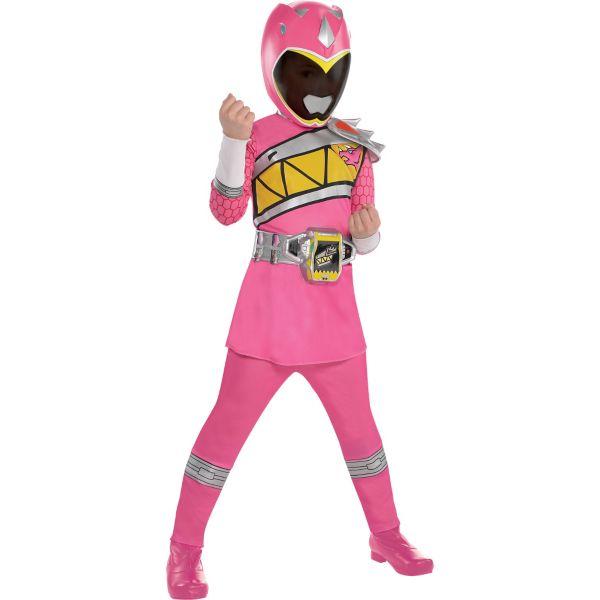 Girls Pink Ranger Costume - Power Rangers Dino Charge