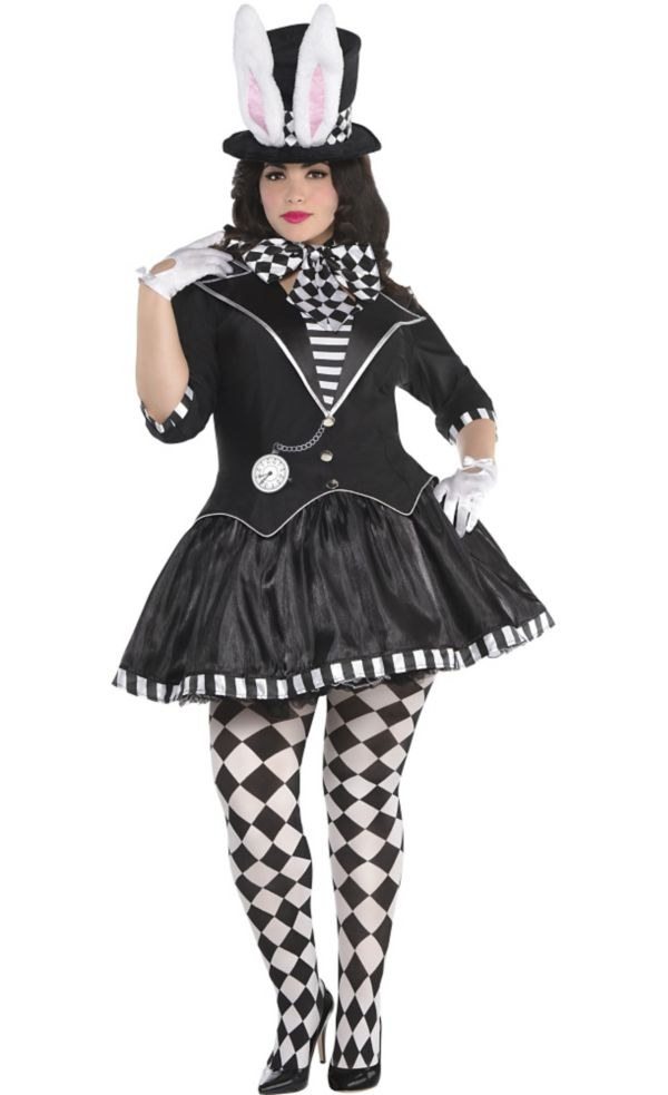 dark mad hatter costume plus size