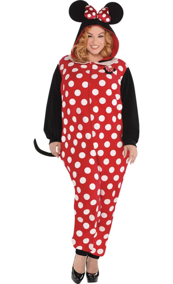 zipster minnie mouse one piece costume plus size