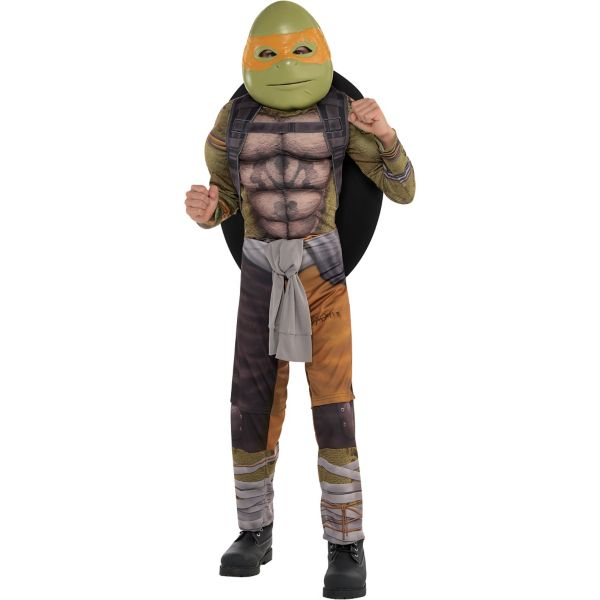 boys michelangelo muscle costume teenage mutant ninja turtles 2 - Teenage Mutant Ninja Turtles Halloween Costumes For Kids