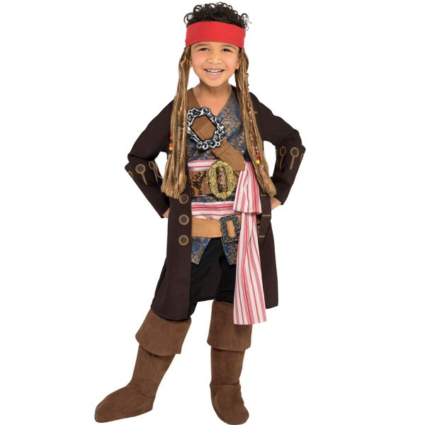little boys jack sparrow costume pirates of the caribbean dead men tell no tales - Jack Sparrow Halloween Costumes
